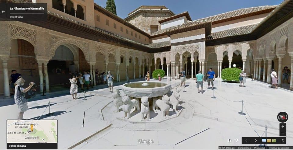 AlhambraGeneralife Granada Street View Google Maps