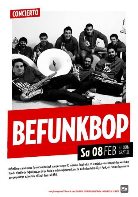 Befunkbop el próximo sábado 8 de febrero a las 21:00h actuarán gratis en Planta baja hasta completar el aforo