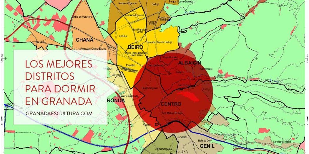 Mejores zonas y distritos para dormir en Granada