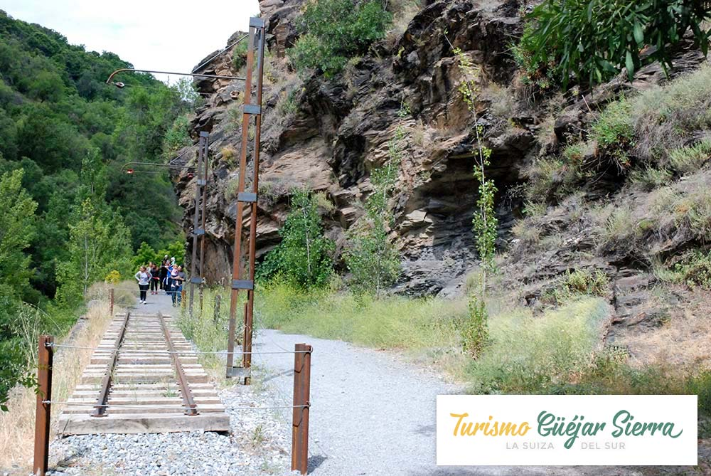 Ruta del tranvía de Güejar Sierra al Restaurante Maitena