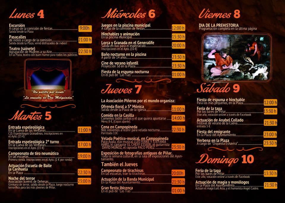 Programa Semana Cultural de Píñar 2014